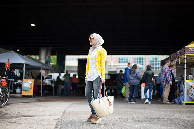 Baltimore Farmer's Market-J.Crew Lemon Print Cardigan-Two Boots Farm-Shop Local-Knopf's Farm on the Shore-The Mushroom Stand-Le MONADE-Things to do in Baltimore-Farmer's Market-Hijabi